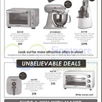 Tangs Mayer, Kitchenaid & More Kitchen Appliances Offers 28 Aug - 8 Sep 2015