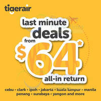 Read more about Tigerair fr $64 all-in Return Promo Fares 31 Aug - 7 Sep 2015