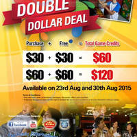 Read more about Timezone 100% Extra Double Dollar Sundays Promo 23 - 30 Aug 2015