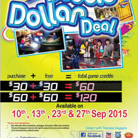 Timezone 100% Extra Double Dollar Promo 27 Sep 2015