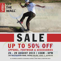 Read more about Vans Off The Wall Up to 50% Off Sale @ Wisma Gulab 26 - 29 Aug 2015