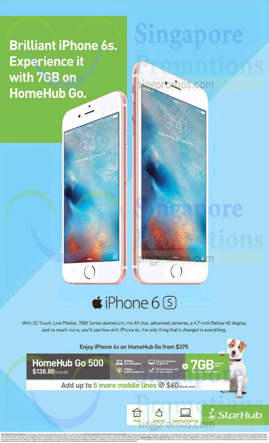 138.80 HomeHub Go 500, Apple iPhone 6s