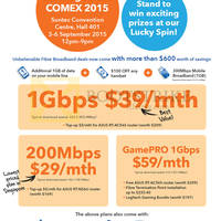 M1 COMEX Home Broadband, Mobile & Other Offers 3 - 6 Sep 2015