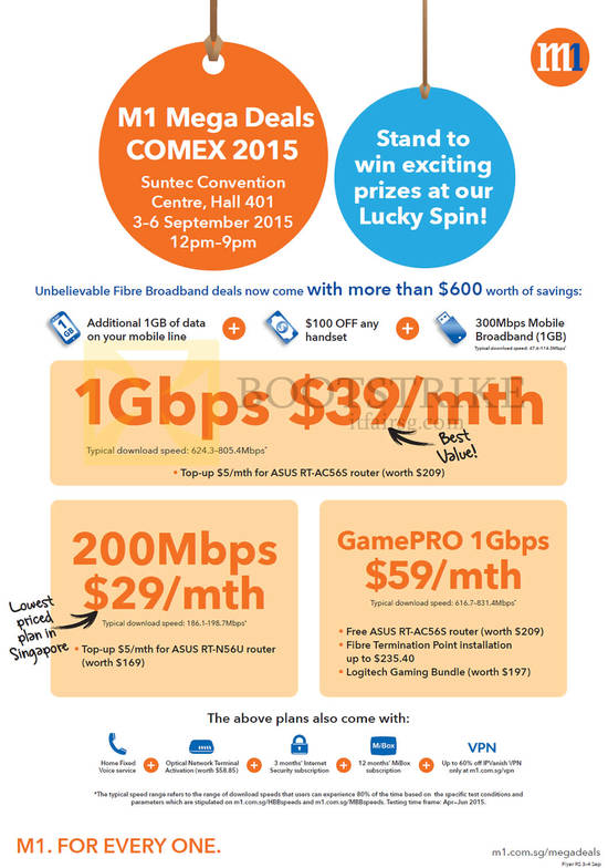 1Gbps 39 mth, 200Mbps 29 mth, GamePRO 1Gbps $59 mth
