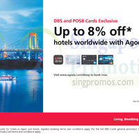 Agoda 8% Off Hotels Worldwide For DBS/POSB Cardmembers 3 - 15 Sep 2015