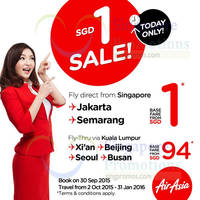 Read more about Air Asia fr $1 Promo Fares Flash Sale 30 Sep 2015
