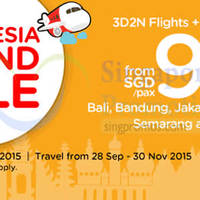 Read more about Air Asia Go Indonesia fr $95/pax 3D2N Flights + Hotel + Tax 21 - 27 Sep 2015