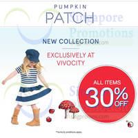 Read more about Pumpkin Patch 30% Off (Vivocity) & 20% Off (All Outlets) Promo 23 Sep 2015