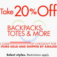 Read more about Amazon.com 20% OFF Backpacks, Totes & More (NO Min Spend) Coupon Code 10 - 15 Sep 2015