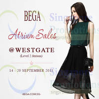 Read more about Bega Atrium Sale @ Westgate 15 - 20 Sep 2015