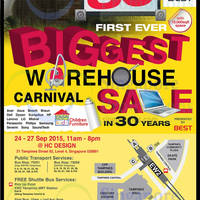 Read more about Best Denki Warehouse Carnival Sale 24 - 27 Sep 2015