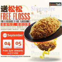 Breadtalk FREE Flosss Giveaway @ All Outlets 4 - 5 Sep 2015