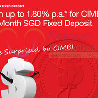 Read more about CIMB Up To 1.80% p.a. 12-mth SGD Fixed Deposit 2 - 31 Oct 2015