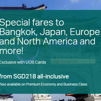 Read more about Cathay Pacific fr $218 Promo Fares For UOB Cardmembers 27 Sep - 20 Oct 2015