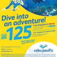 Read more about Cebu Pacific fr $125 all-in Davao, Iloilo & Cebu Promo Fares 22 - 23 Sep 2015