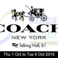 Read more about Coach Up To 50% Off Special Sale @ Takashimaya 1 - 6 Oct 2015
