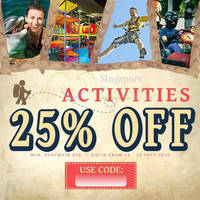 Read more about Deal.com.sg Ensogo 25% OFF $50 Min Spend Activities Deals Coupon Code 11 - 13 Sep 2015