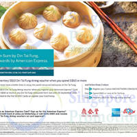 Din Tai Fung Spend $60 & Get $10 Voucher For AMEX Cardmembers 2 - 30 Sep 2015