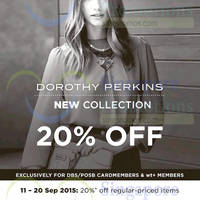 Read more about Dorothy Perkins 20% Off Storewide Promo 11 - 20 Sep 2015