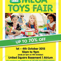 Read more about Early Learning Centre Mega Toys Fair @ United Square 1 - 4 Oct 2015