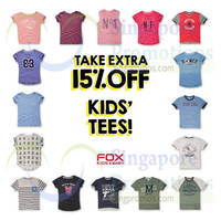 Read more about Fox Fashion 15% Off Kids Tees 23 - 27 Sep 2015
