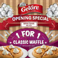Read more about Gelare 1-for-1 Waffles @ White Sands 14 Sep - 31 Oct 2015