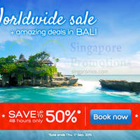 Read more about Hotels.com Up To 50% Off 48hr Worldwide Sale 16 - 17 Sep 2015