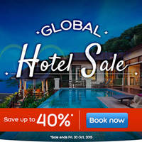 Read more about Hotels.com Up To 40% Off Global Sale 28 Sep - 30 Oct 2015