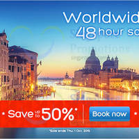 Read more about Hotels.com Up To 50% Off 48hr Worldwide Sale 30 Sep - 1 Oct 2015