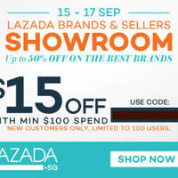 Read more about Lazada $15 OFF $100 Spend Storewide 1-Day Coupon Code 17 Sep 2015