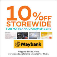 Read more about Lazada 10% Off Storewide For Maybank Cardmembers 15 - 17 Sep 2015