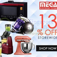 Mega Discount Store 13% OFF (NO Min Spend) Coupon Code 4 - 7 Sep 2015