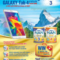 Read more about Nestle Nan Spend $350 & Redeem Galaxy Tablet 4 7.0 for $88 30 Sep - 31 Oct 2015