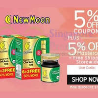 Read more about New Moon 10% OFF Abalones, Bird's Nest, Essence of Chicken & More (NO Min Spend) 1-Day Coupon Code 6 Oct 2015