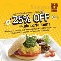Read more about O'Coffee Club 25% Off 1-Day Promo @ Wheelock Place 20 Sep 2015