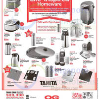 Read more about Zojirushi & Tanita Offers @ OG 24 Sep - 7 Oct 2015