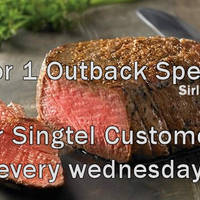 Outback Steakhouse 1-for-1 Outback Special For Singtel Customers (Wed) 2 - 30 Sep 2015