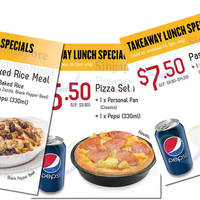 Read more about Pizza Hut Takeaway Lunch Specials (Weekdays) 28 Sep 2015