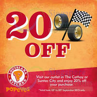 Read more about Popeyes 20% Off Coupon @ Suntec & The Cathay 19 - 20 Sep 2015