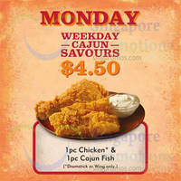 Read more about Popeyes $4.50 1pc Chicken & 1pc Cajun Fish (Mondays) From 7 Sep 2015