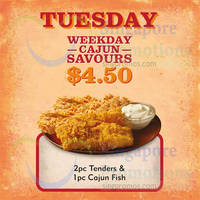 Read more about Popeyes $4.50 2pc Tenders & 1pc Cajun Fish (Tuesdays) From 8 Sep 2015