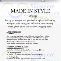 Read more about Raffles City Made In Style Promotions & Activities 6 - 20 Sep 2015