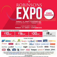 Read more about Robinsons Expo @ Singapore Expo 10 - 20 Sep 2015