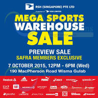 Read more about Royal Sporting House Mega Warehouse Preview Sale For SAFRA Members 7 Oct 2015