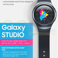 Read more about Samsung Gear S2 Watch Preview & Pre-Order @ Ngee Ann City 26 - 27 Sep 2015