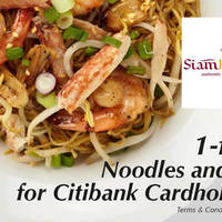 Read more about Siam Kitchen 1-For-1 Noodles & Rice For Citibank Cardmembers (Weekdays) 30 Sep - 30 Oct 2015