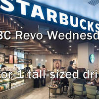 Starbucks 1-for-1 Tall Beverage For HSBC Revolution Cardmembers (Wed) 2 Sep - 30 Dec 2015