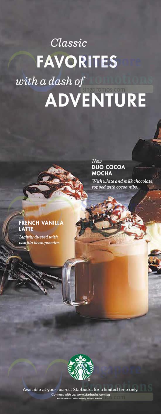 Starbucks NEW Duo Cocoa Mocha & French Vanilla Latte 9 Sep 2015 ...