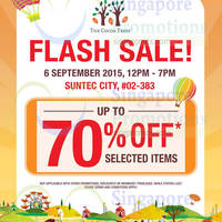 The Cocoa Trees Flash Sale (12pm - 7pm) @ Suntec City Mall 6 Sep 2015