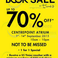 Times Bookstores Up to 70% Off Sales @ Centrepoint 4 - 14 Sep 2015